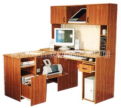 """""""компьютерный стол 12 (с выкатной тумбой)"""" - корпусная мебел."""
