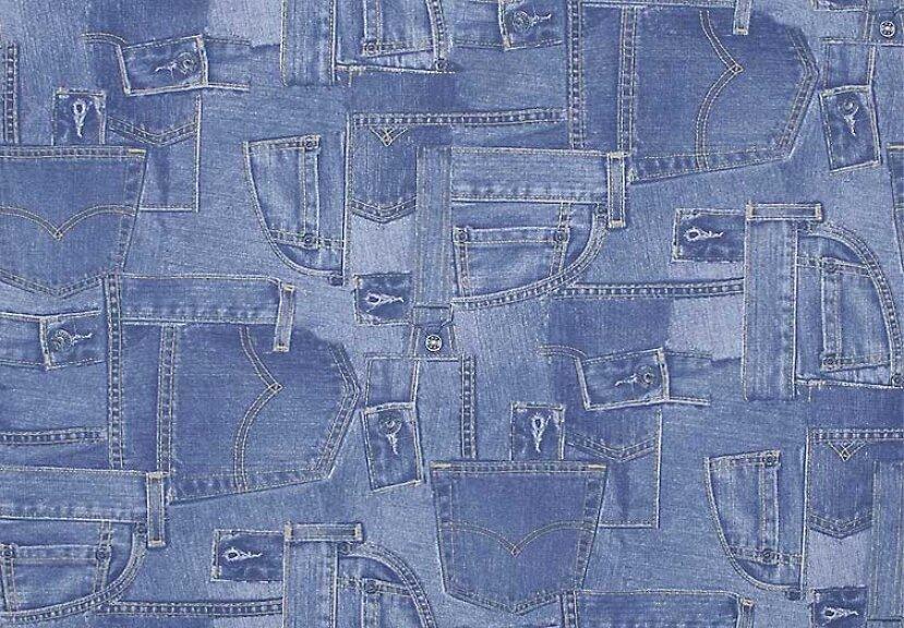 Джинсовая ткань с рисунком 148